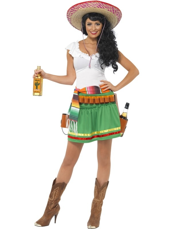 tequila shooter girl hat mexican fancy national dress ladies