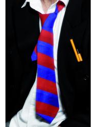 Blue and Red Striped School Tie
