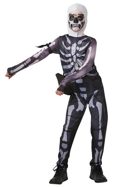 Fortnite Skull Trooper Kids Costume