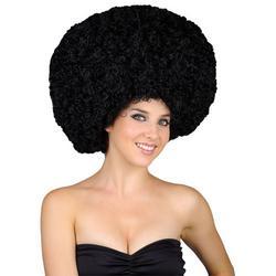 70s Jumbo Black Afro Wig