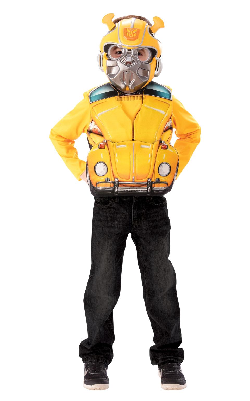 Sentinel Bumblebee Flip Top + Mask Boys Fancy Dress Transformer Film Beetle  Kids Costume 4da4c483529