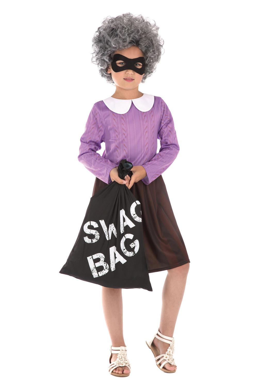 Burglar Granny Girls Costume
