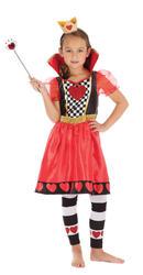 Girls Queen Of Hearts Fancy Dress