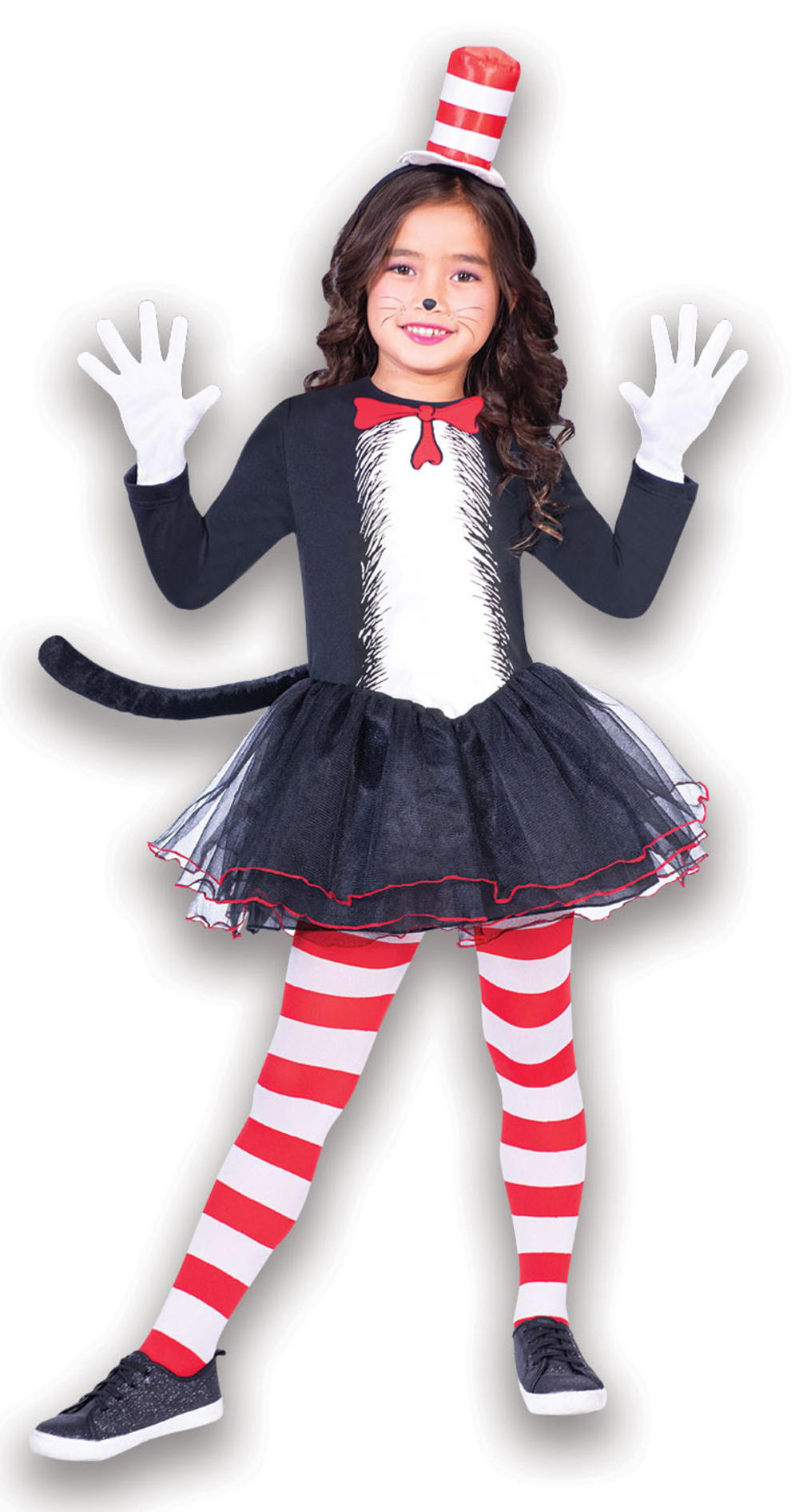 The Cat In The Hat Dress Girls Costume