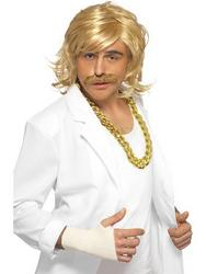 Keith Lemon Blonde Wig and Tash Set