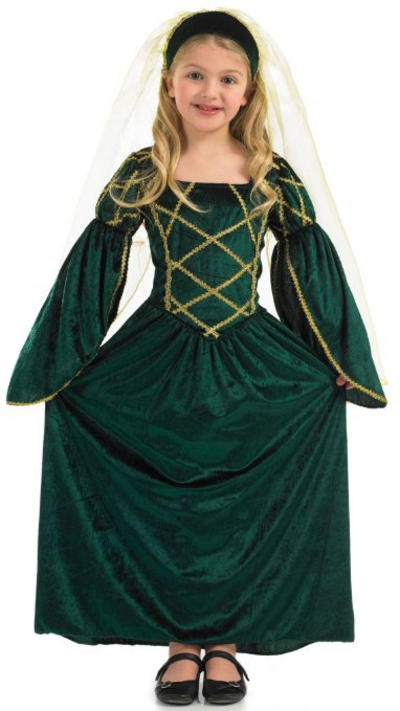 Girls Tudor Princess Costume