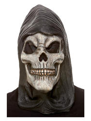 Hooded Skeleton Latex Mask