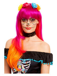Pink Day of the Dead Wig