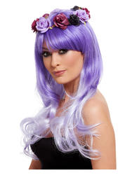 Purple Day of the Dead Glam Wig