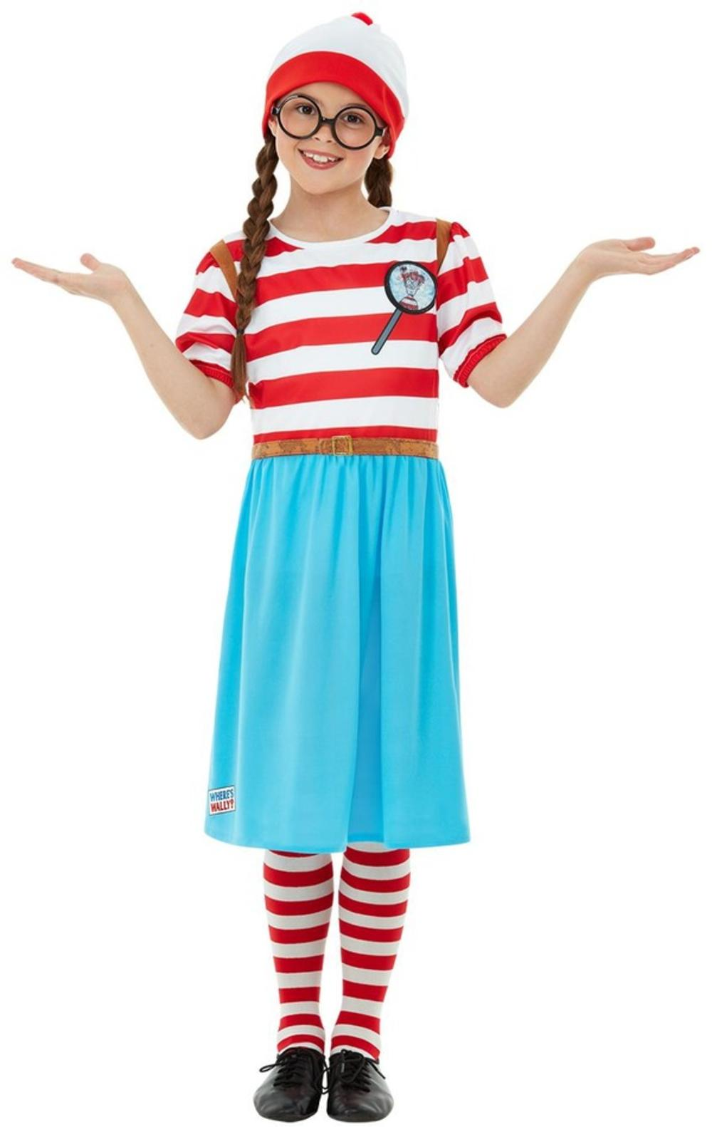 Deluxe Wheres Wally? Wenda Girls Costume