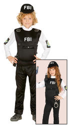 FBI Agent Kids Costume