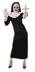 Ladies' Zombie Nun Fancy Dress Costume