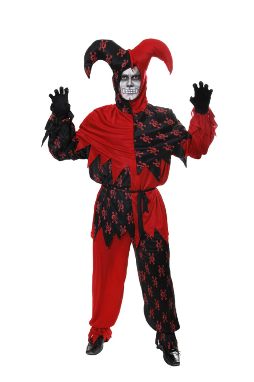 Evil Jester Skull Halloween Costume  sc 1 st  Mega Fancy Dress & Evil Jester Skull Halloween Costume   All Mens Halloween Costumes ...
