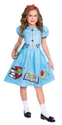 Clever Little Book Worm Girls Fancy Dress
