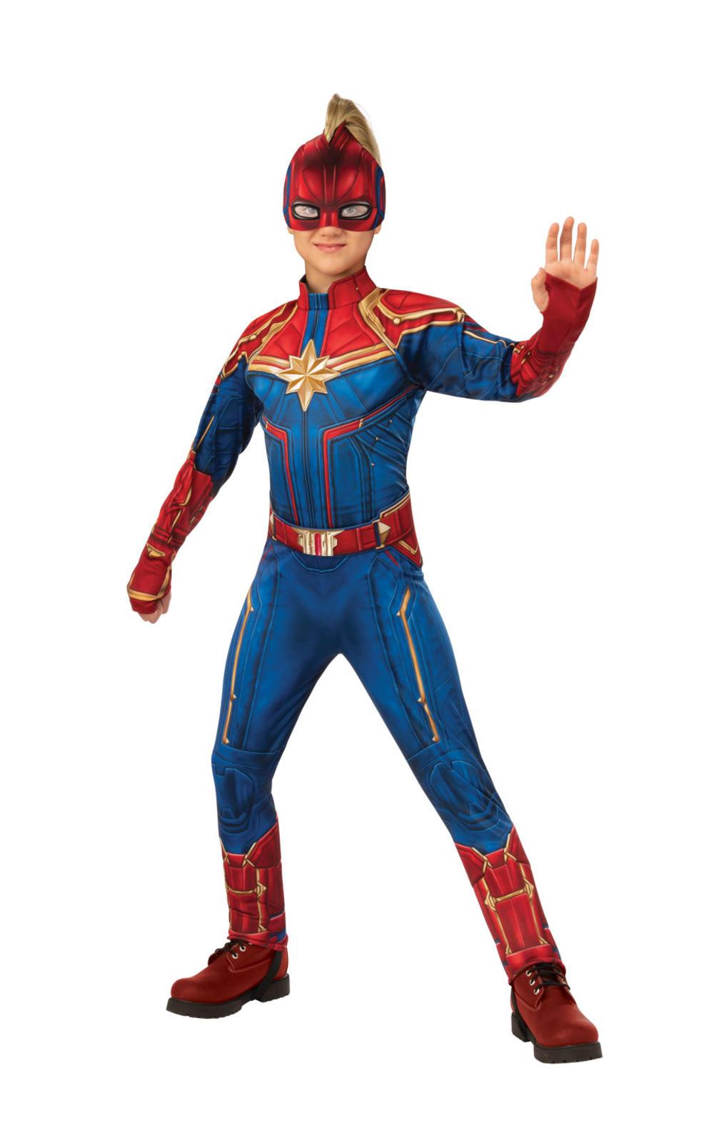 Deluxe Captain Marvel Hero Suit Girls Costume