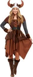 Viking Barbarian Queen Ladies Costume