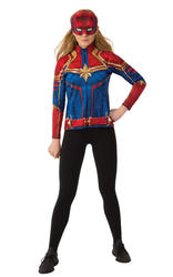 Ladies Captain Marvel Hero Suit Top