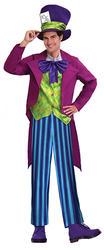 Mens Mad Hatter Fancy Dress Costume
