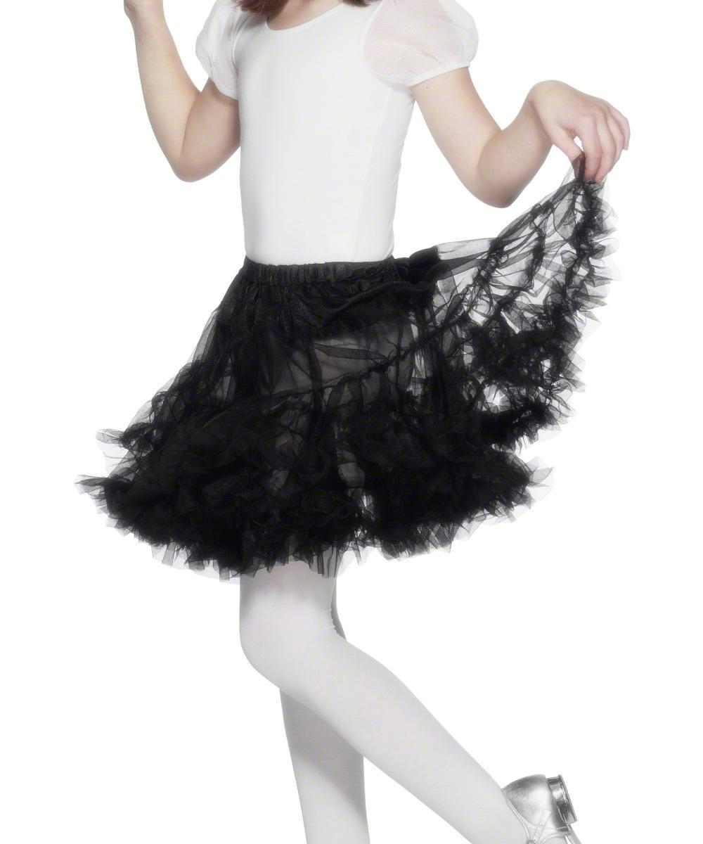 Girls Layered Black Petticoat