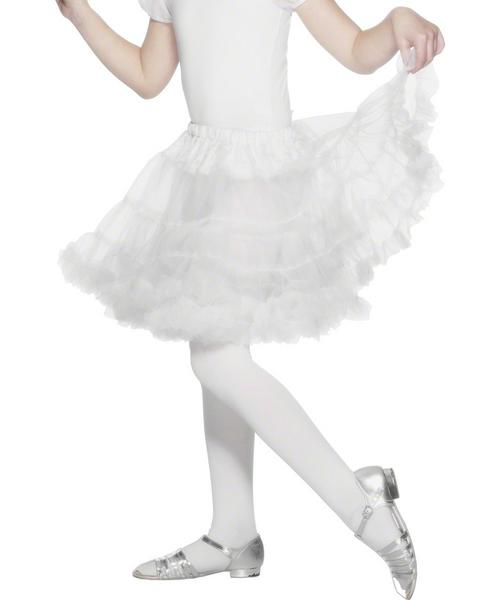 Girls Layered White Petticoat
