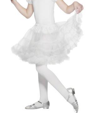 Girls Layered White Petticoat