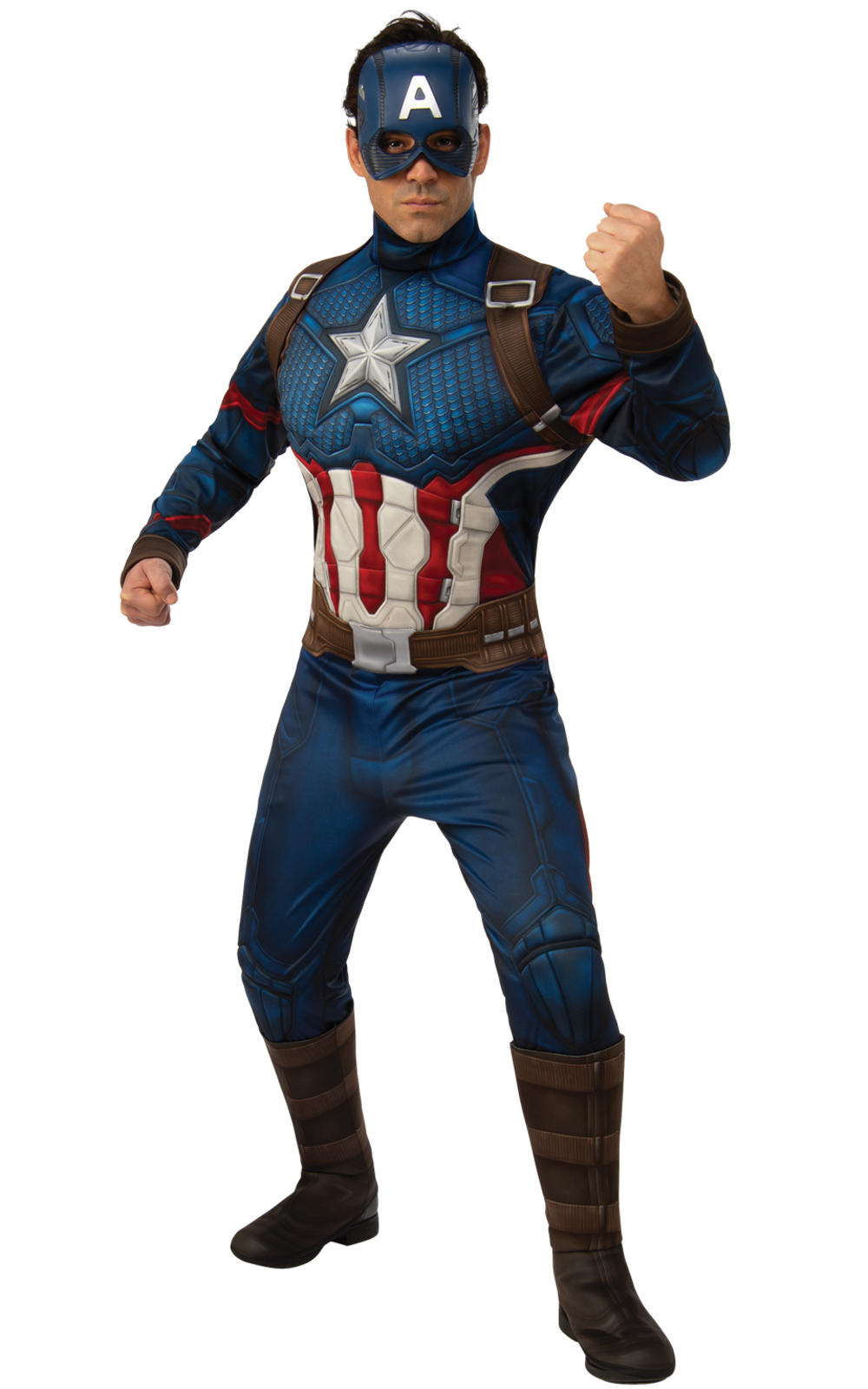 Deluxe Captain America Mens Costume