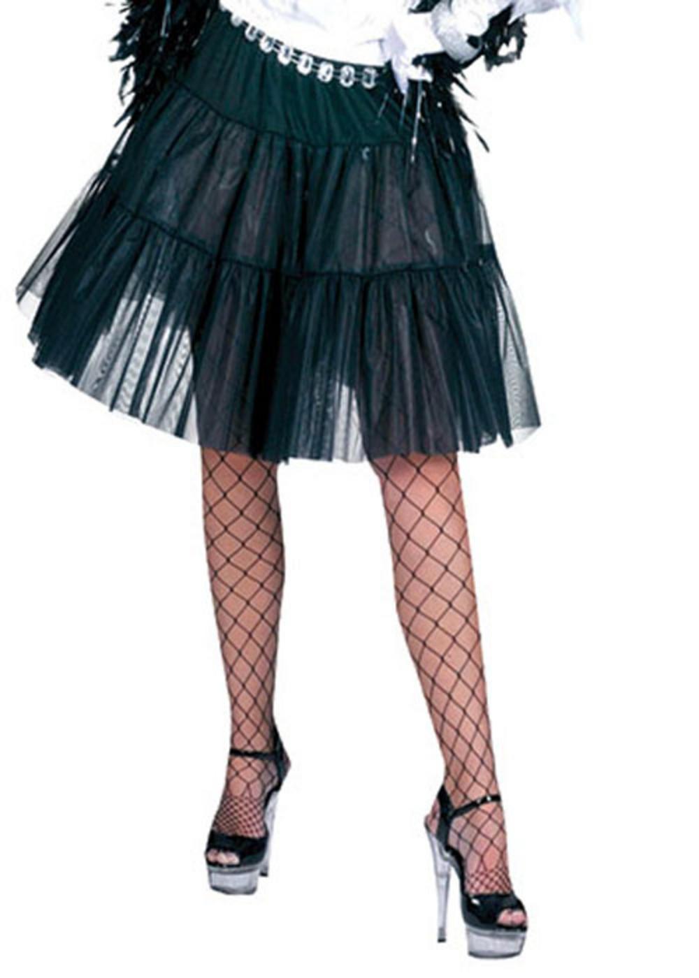 Black Knee Length Petticoat
