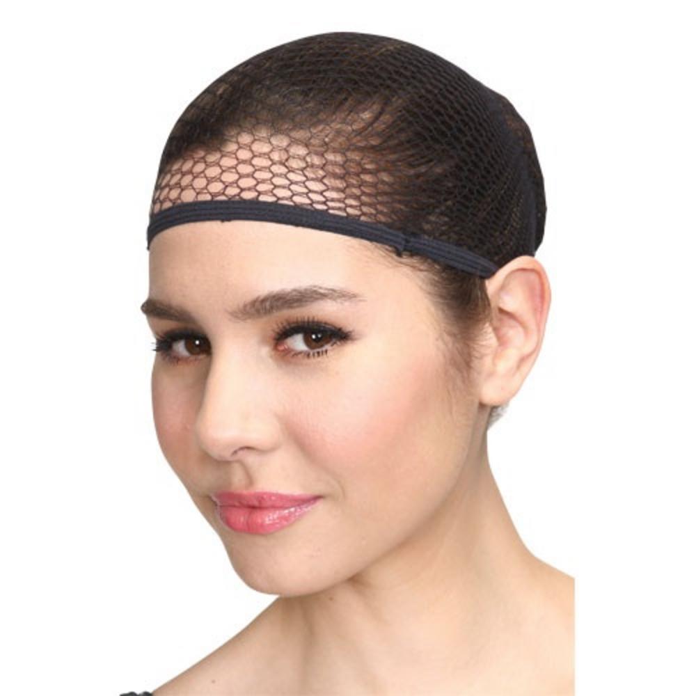 Black Wig Cap Costume