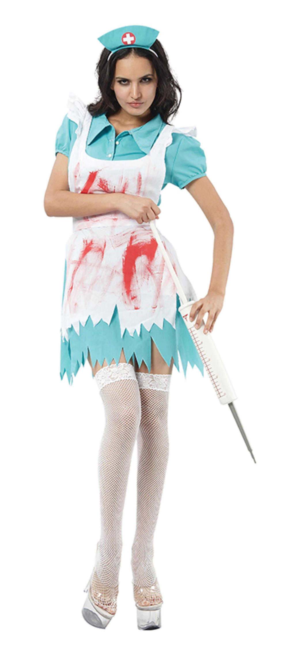 Blood Splattered Nurse Ladies Costume