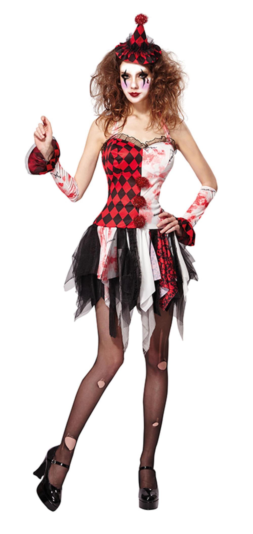 Scary Jester Ladies Costume
