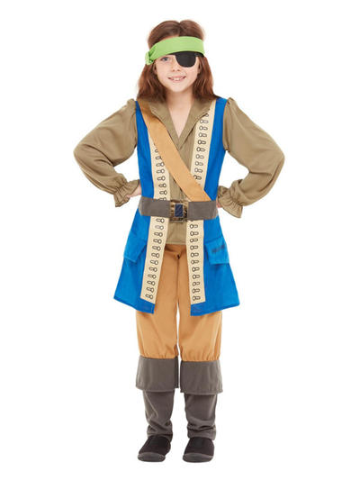 Horrible Histories Pirate Captain Kids Costume