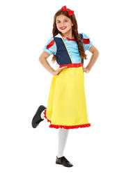 Deluxe Princess Snow Girls Costume