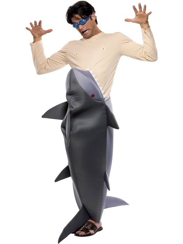Man Eating Shark Costume  sc 1 st  Mega Fancy Dress & Man Eating Shark Costume | Herren Karneval Kostüme | Mega Fancy Dress