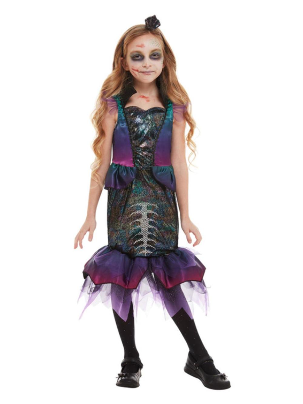 Dark Mermaid Girls Costume