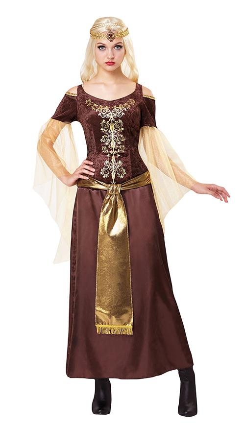 81b67461b60 Details about Medieval Lady Ladies Fancy Dress Renaissance Tudor Dragon  Queen Adults Costume