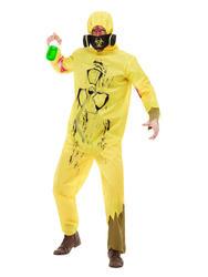 Burnt Biohazard Suit Mens Costume