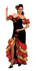 Rumba Woman Spanish Flamenco Dancer Costume