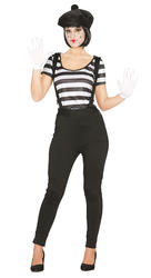 Mime Ladies Costume