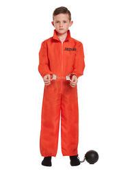Prison Overalls Boys Costume