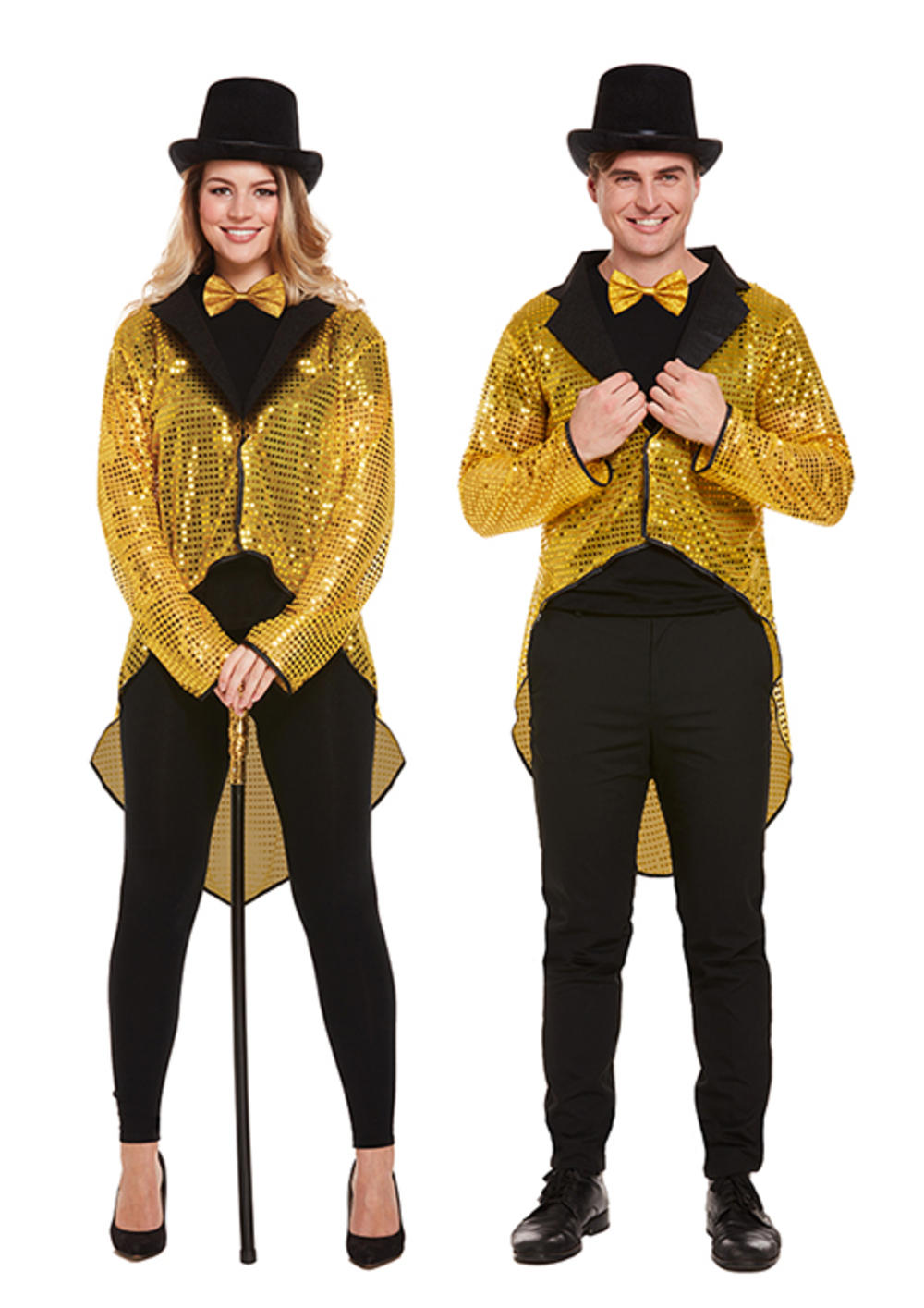 Adults Gold Sequin Tailcoat