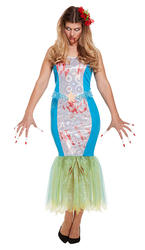 Zombie Mermaid Ladies Costume