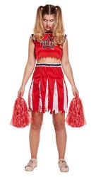 Zombie Cheerleader Ladies Halloween Costume