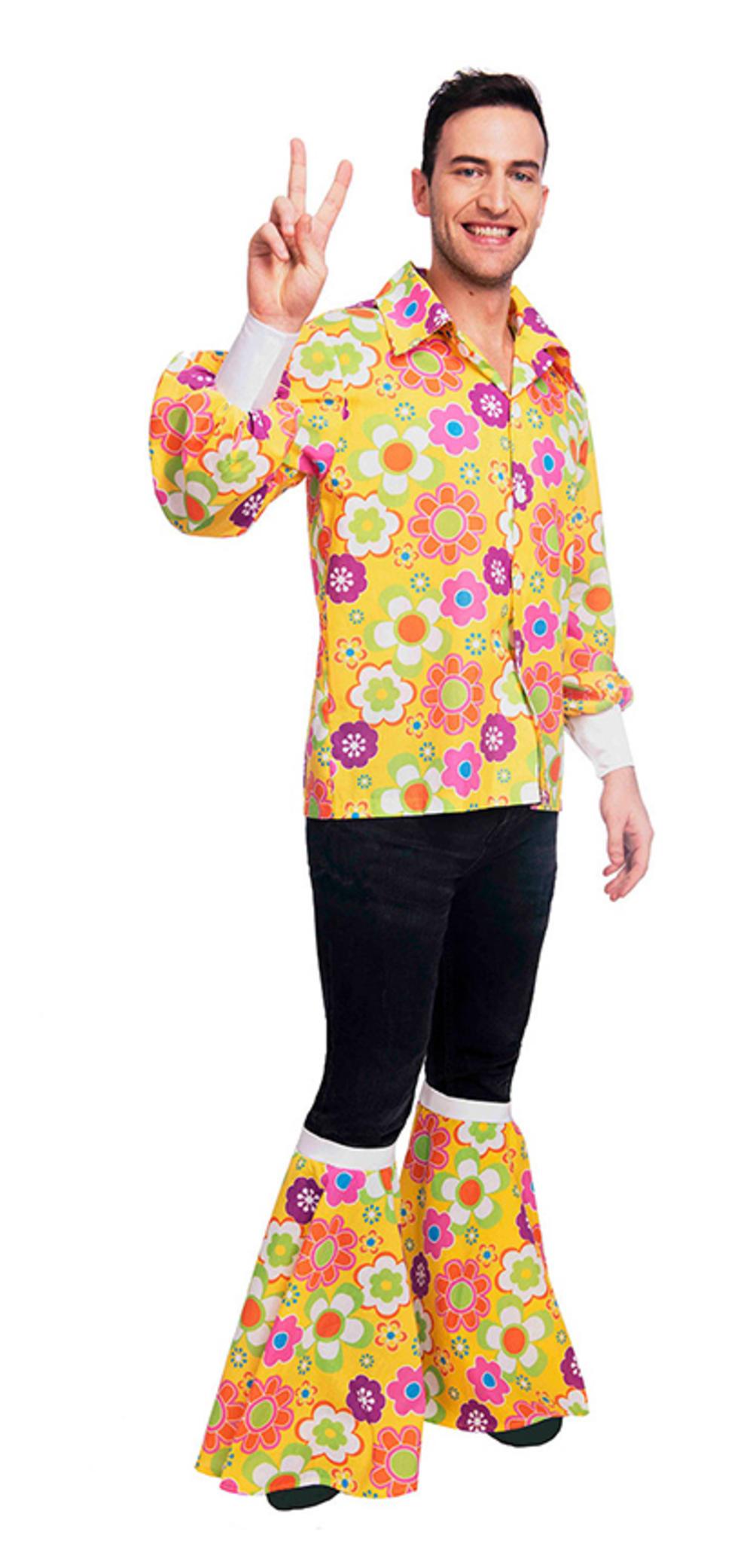 Mens 60s Flower Power Shirt