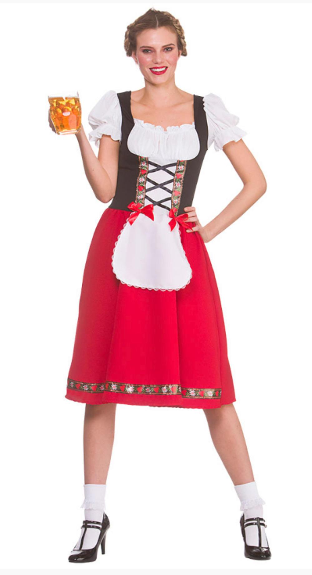 Traditional Bavarian Beer Girl Ladies Costume