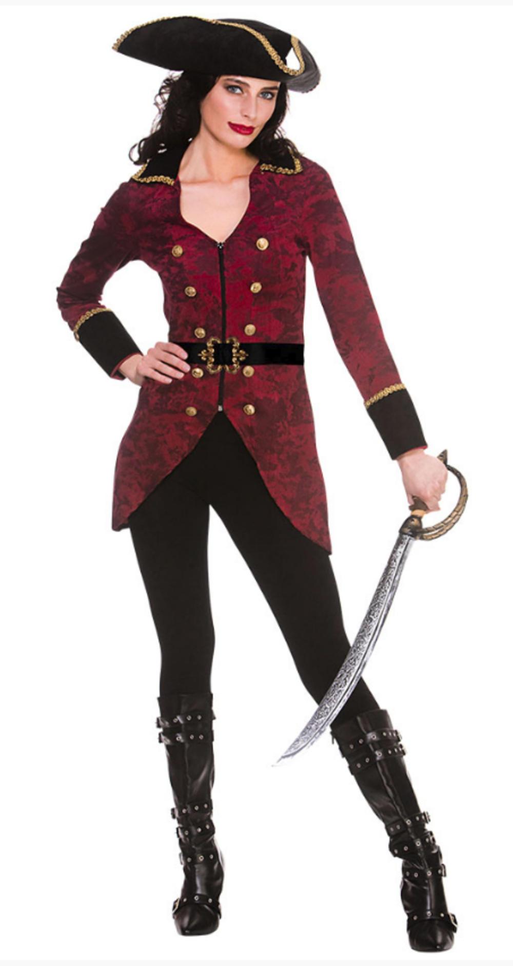 Deluxe Pirate Captain Ladies Costume