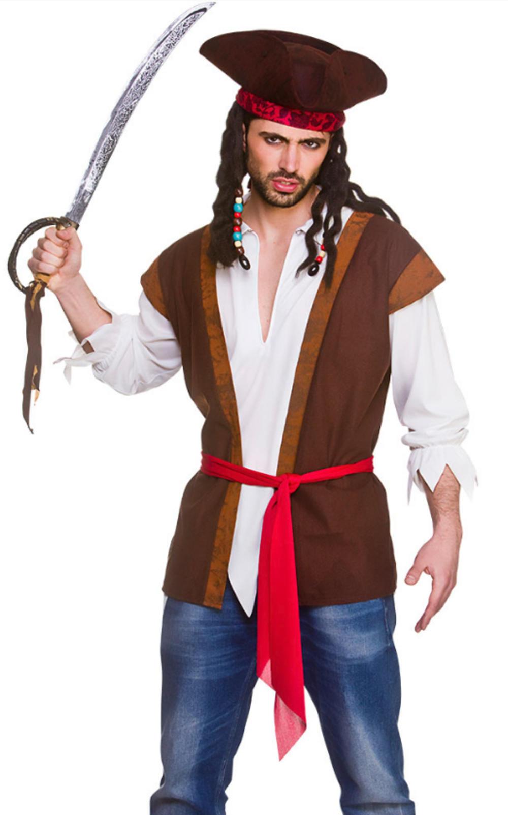 Mens Pirate Shirt & Waistcoat