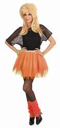 Ladies 80s Orange Tutu
