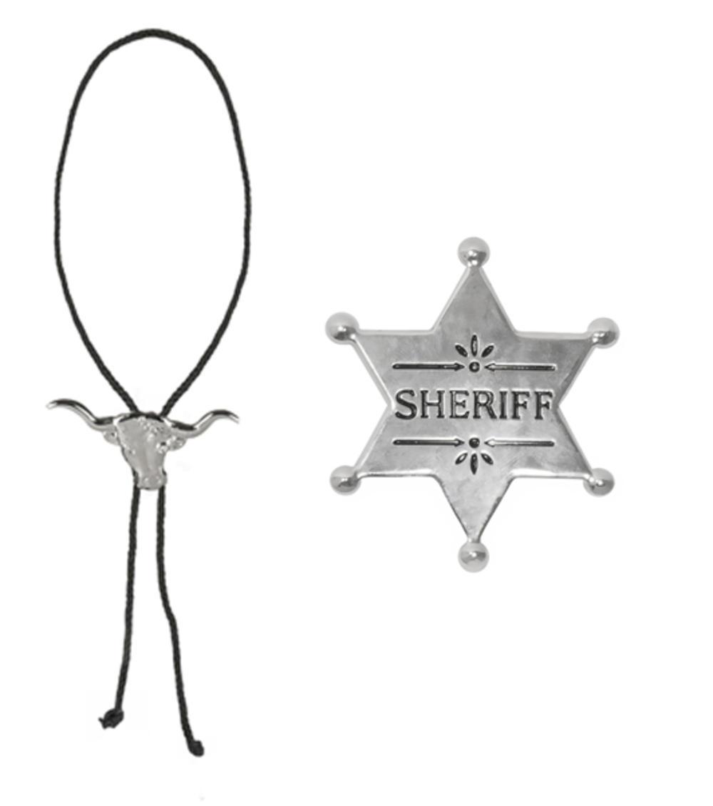 Cowboy Necklace & Sheriff Star Set