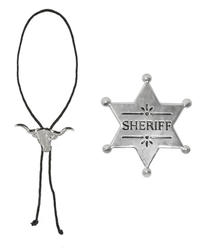 Cowboy Necklace & Sheriff Star Set