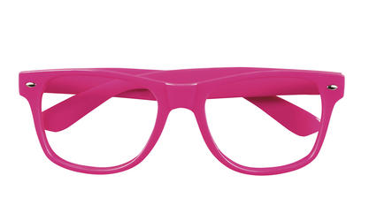 4 Neon Pink Party Glasses